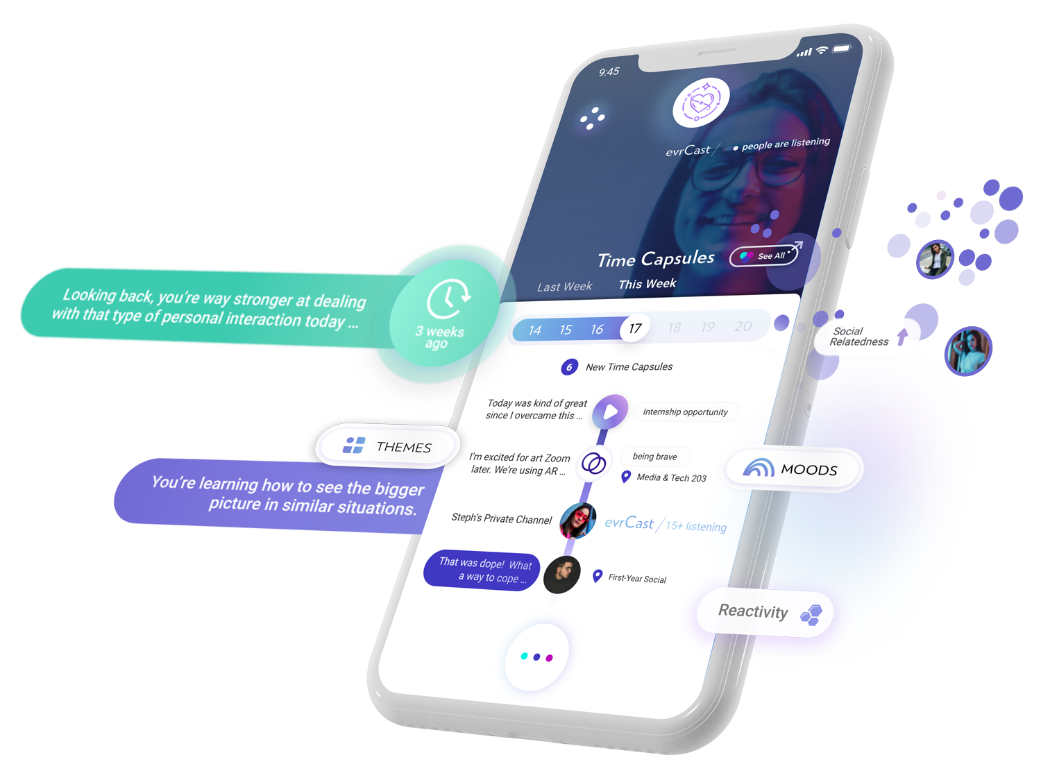 evrmore is the emotional GPS for you to voice your inner truth