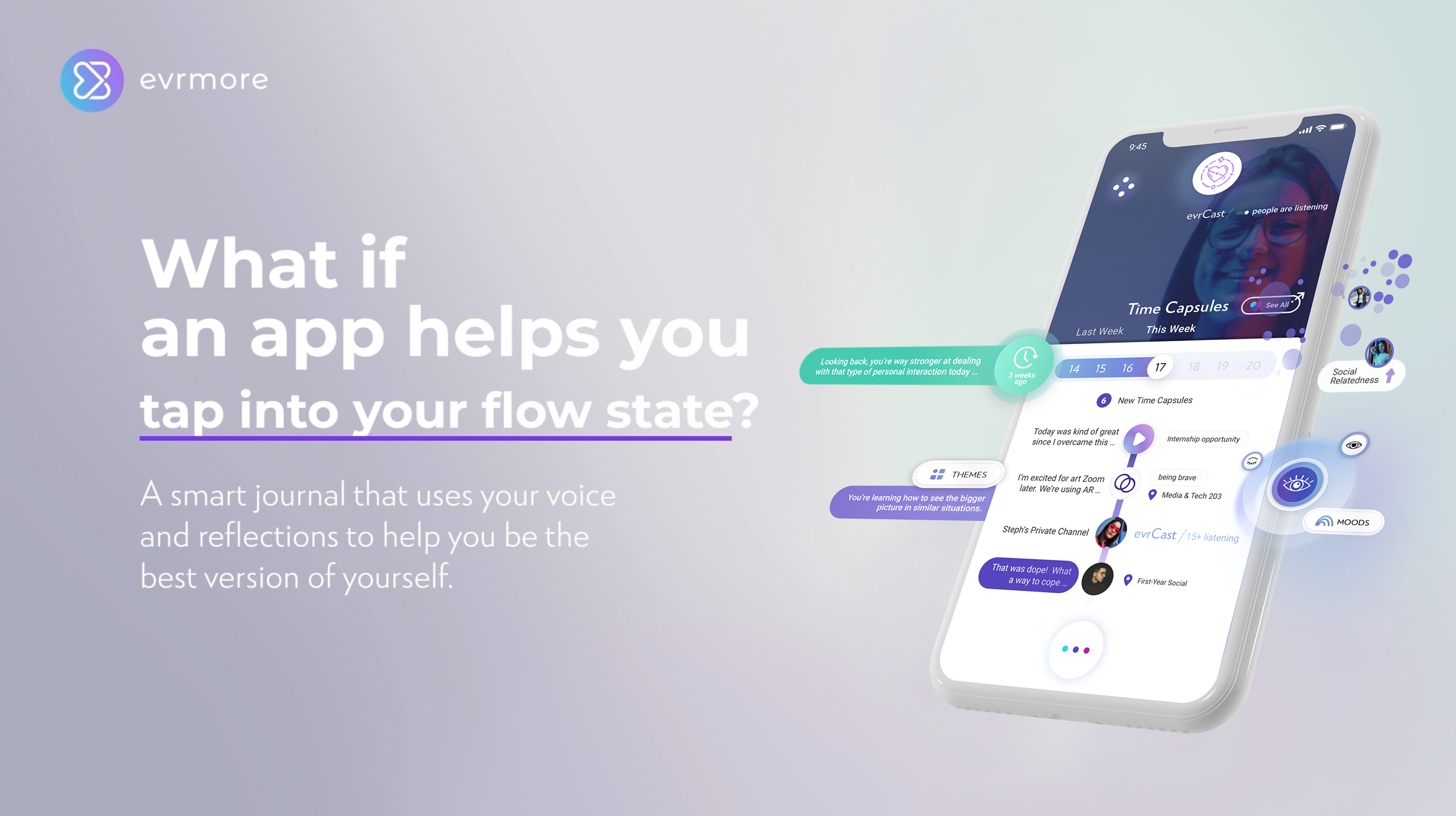 evrmore helps you tap into a social + mentor network uniquely your own
